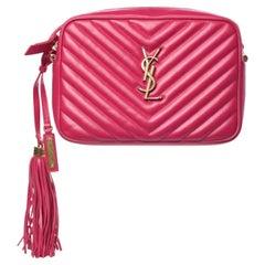 Saint Laurent Matelassé Leather Lou Camera Bag - Pink