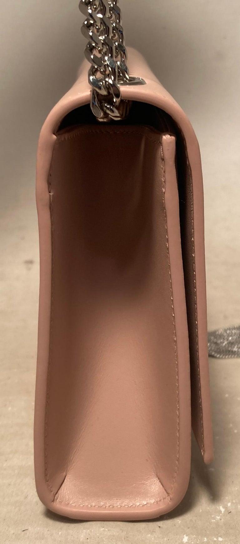 NWOT Saint Laurent Medium Kate Monogram Tassel Bag in Pale Pink. 9.25