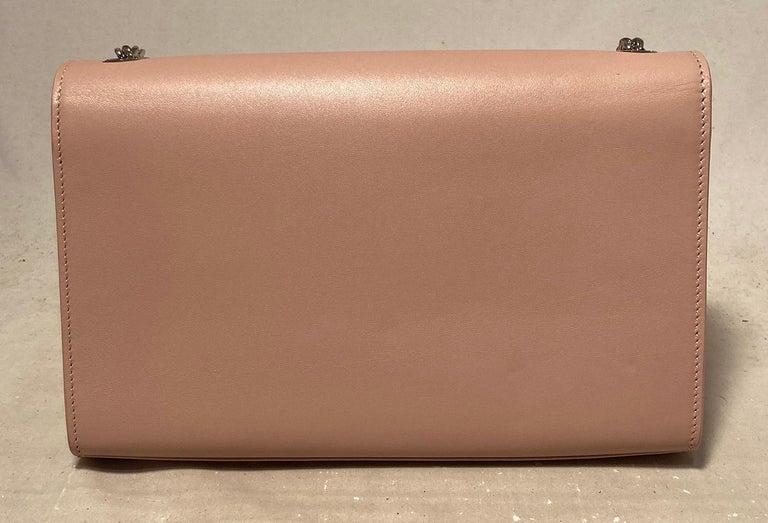 Brown Saint Laurent Medium Kate Monogram Tassel Bag in Pale Pink For Sale