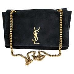 Saint Laurent Medium Reversible Kate Suede, Smooth Leather Bag