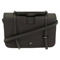SAINT LAURENT Messenger Shoulder bag in Grey Leather