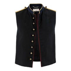 Saint Laurent Military Sleeveless Jacket SIZE 46