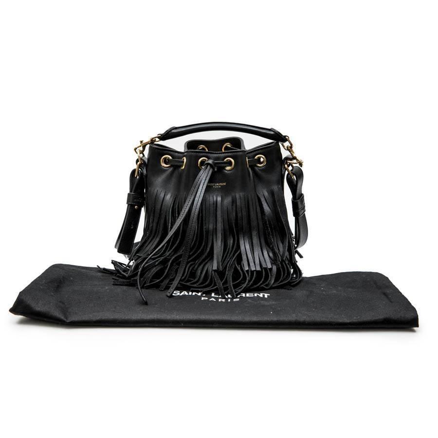 1stdibs Saint Laurent Mini emmanuelle Bucket Bag In Black Smooth Leather And Fringes l59bJBRo3