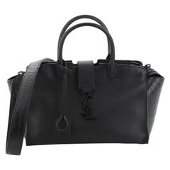Saint Laurent Monogram Cabas Downtown Leather with Crocodile Embossed Leather