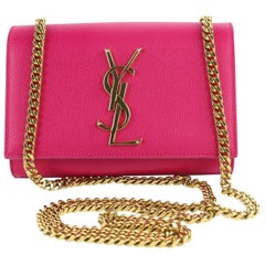 Saint Laurent Monogram Kate Fuchsia Small Chain Flap 10mz1106 Pink Cross BodyBag