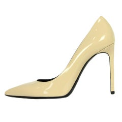 Saint Laurent Nude Patent Leather Point Toe Pumps sz 39.5