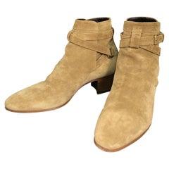 Saint Laurent Paris Blake 40 Jodhpur Buckle Ankle Boots Booties 37