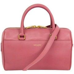 Saint Laurent Paris Pink Leather Classic Baby Duffle Bag