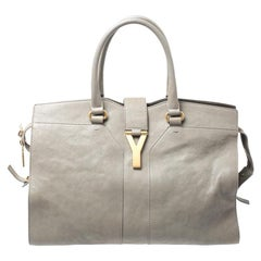 Saint Laurent Paris Saint Laurent Taupe Leather Medium Cabas Chyc Tote