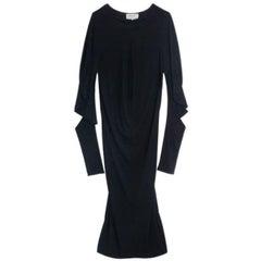 Saint Laurent Paris Stretch Sleeve Midi Dress L