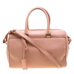 Saint Laurent Peach Leather Classic Duffle 6 Bag