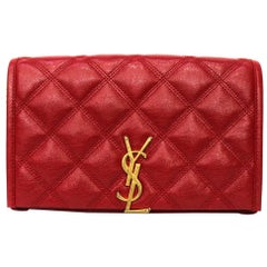 Saint Laurent Red Leather Becky Bag