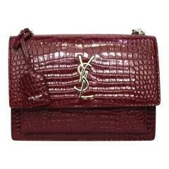 Saint Laurent Red Leather Sunset Bag
