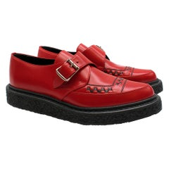 Saint Laurent Red Monk Buckle Creepers 38