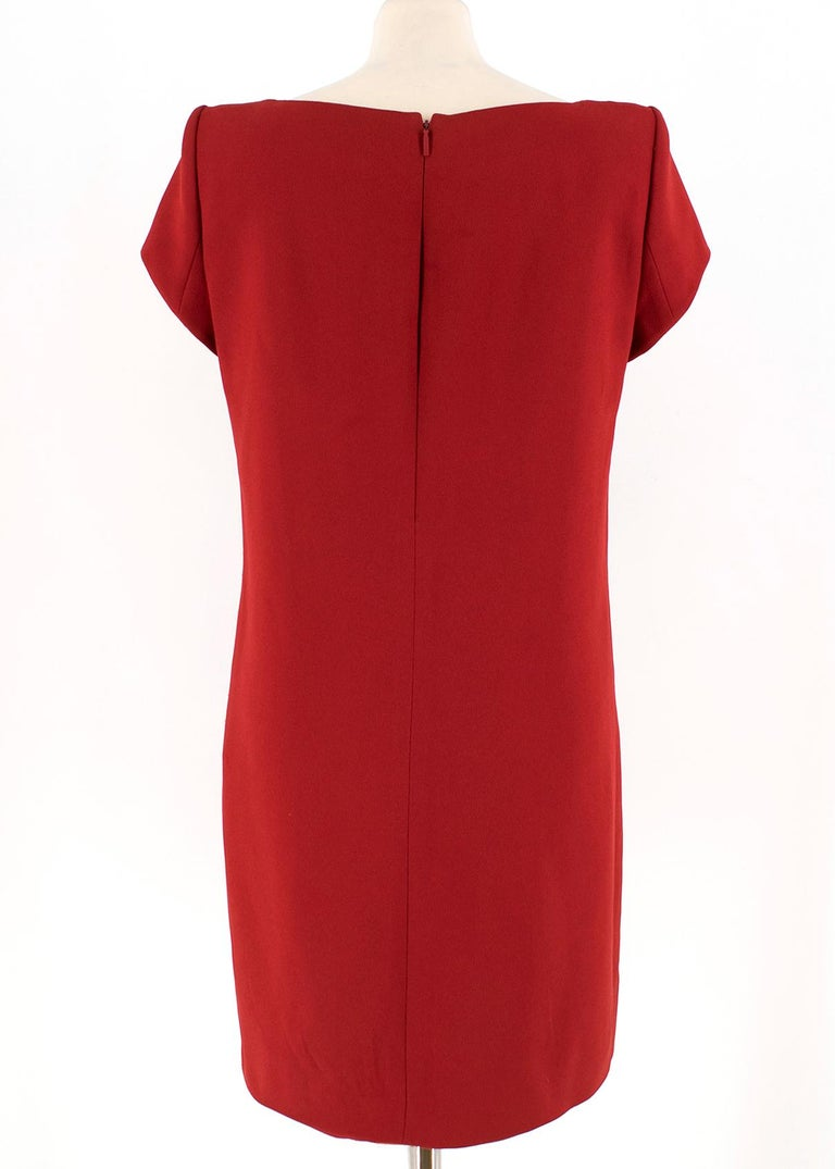 341c1329b08 Saint Laurent Red Shift Mini Dress US 6 In Good Condition For Sale In  London