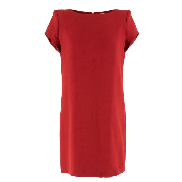 a408319d545 Saint Laurent Red Shift Mini Dress US 6 For Sale at 1stdibs