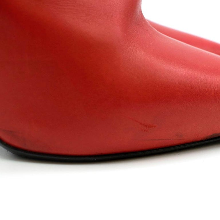 Saint Laurent red stiletto Chelsea boots 39  In Good Condition For Sale In London, GB