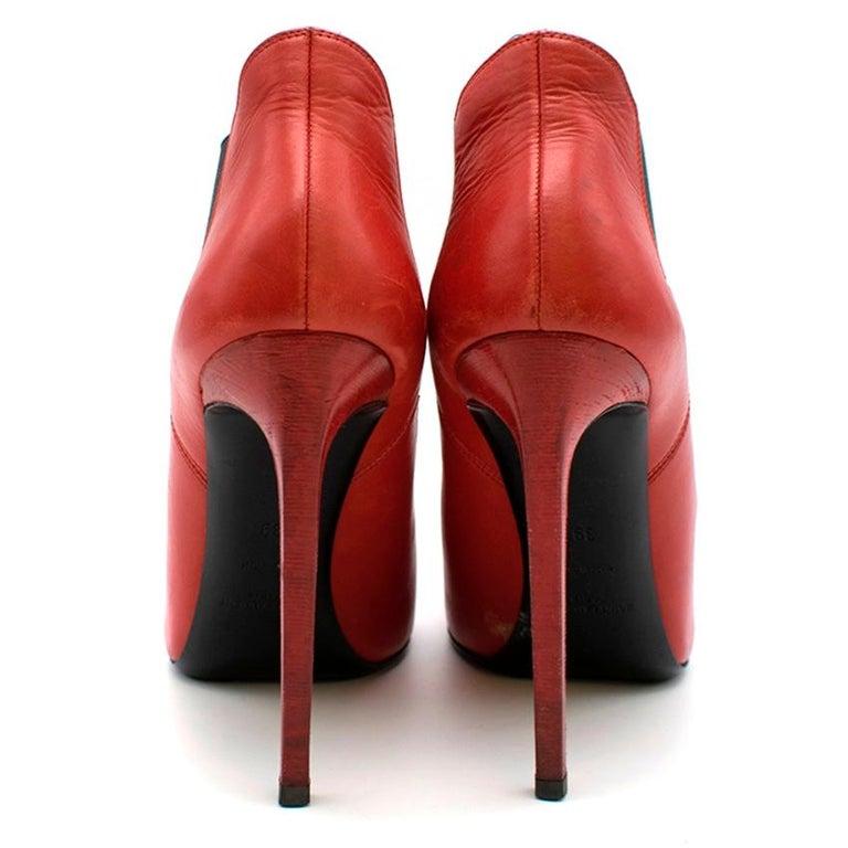 Women's Saint Laurent red stiletto Chelsea boots 39  For Sale