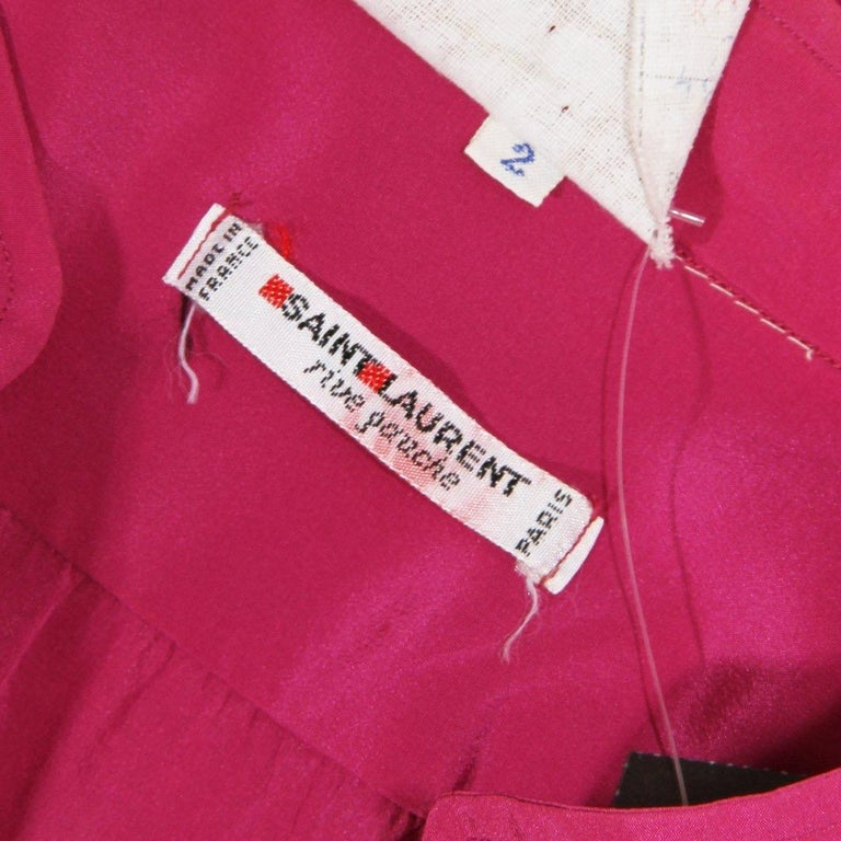 Women's Saint Laurent Rive Gauche Blouse Circa 1980's For Sale