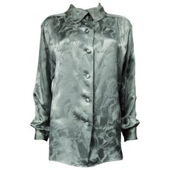 Saint Laurent Rive Gauche Damask silk  Blouse Circa 1980