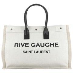 Saint Laurent Rive Gauche Shopper Tote Canvas Large