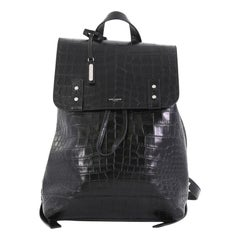 Saint Laurent Sac de Jour Backpack Crocodile Embossed Leather Medium
