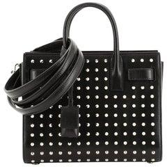 Saint Laurent Sac de Jour Bag Studded Leather Nano