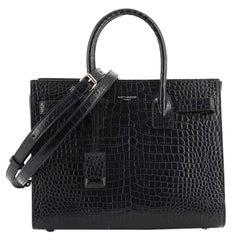 Saint Laurent Sac de Jour NM Bag Crocodile Embossed Leather Baby