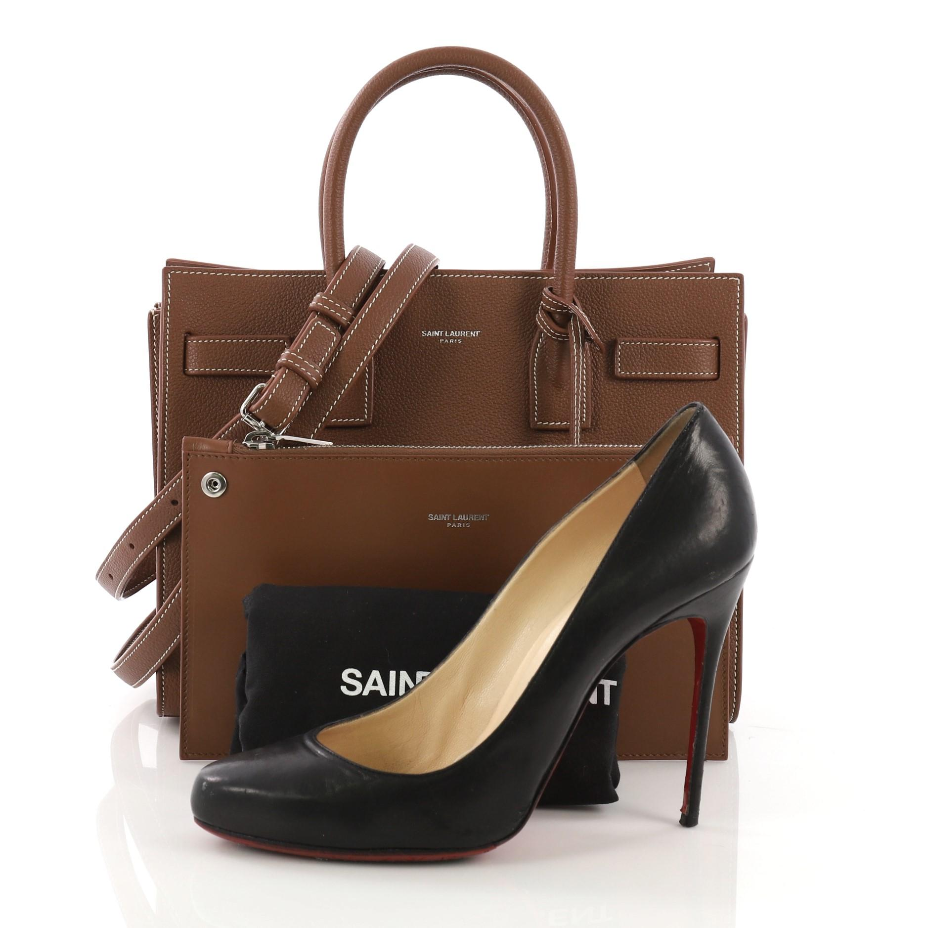 eb312429a0f Saint Laurent Sac de Jour NM Handbag Leather Baby at 1stdibs