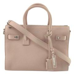 SAINT LAURENT Sac de jour Shoulder bag in Pink Leather