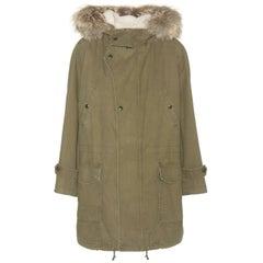 Saint Laurent Shearling-Lined Fur-Trimmed Parka Jacket