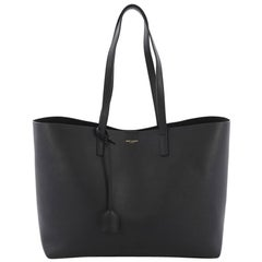 Saint Laurent Shopper Tote Leather Large