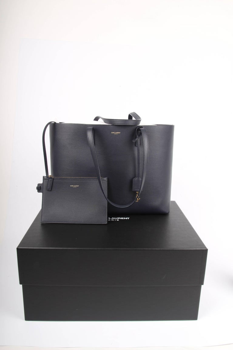1stdibs Saint Laurent Dark Blue Shopping Tote Bag Gc4hc