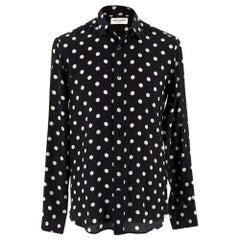 Saint Laurent Silk Polka Dot ShirtSIZE 37/14.5