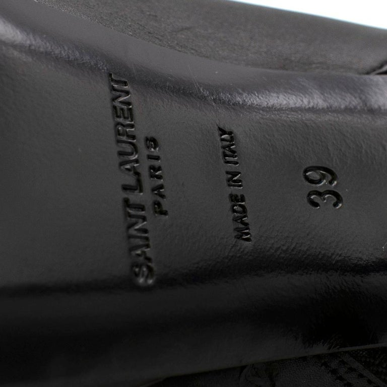 Saint Laurent Stiletto Shearling Lined Platform Boots 39 For Sale 2