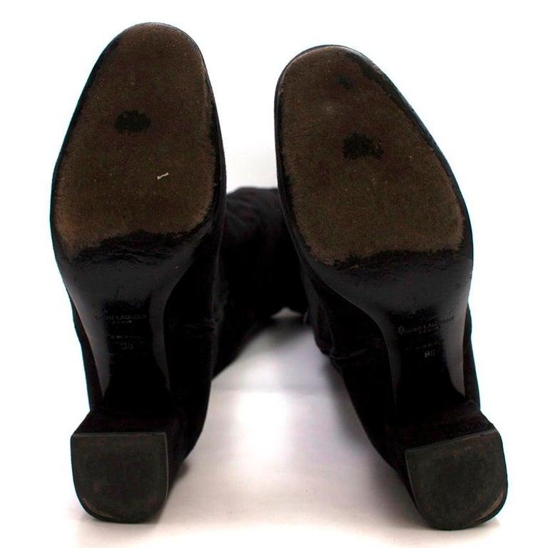 Women's Saint Laurent Suede Long Heeled Boots US 8 For Sale