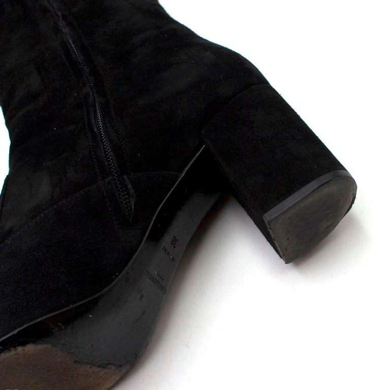 Saint Laurent Suede Long Heeled Boots US 8 For Sale 3
