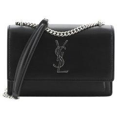 Saint Laurent Sunset Chain Wallet Leather