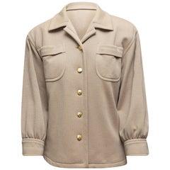 Saint Laurent Tan Button-Up Jacket