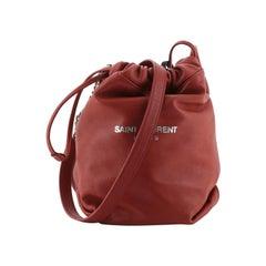 Saint Laurent Teddy Bucket Bag Leather Mini