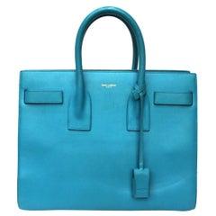 Saint Laurent Turquoise Leather 2Jours Bag