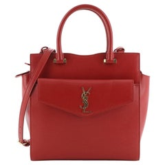 Saint Laurent Uptown Tote Leather Small