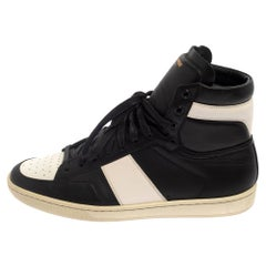 Saint Laurent White Leather Court Classic High Top Sneakers Size 41