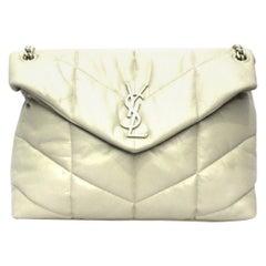 Saint Laurent White Leather LouLou Bag