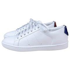 Saint Laurent White Signature Court Classic  Lips Sneakers