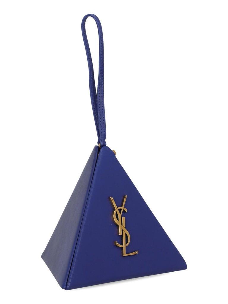 Purple Saint Laurent Woman Handbag Navy Leather For Sale