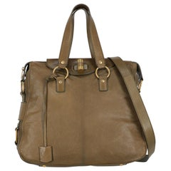 Saint Laurent Woman Shoulder bag Muse Green Leather
