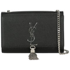 Saint Laurent Woman Shoulder bag Pompom Kate Black Leather