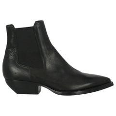 Saint Laurent Women  Ankle boots Black Leather IT 38.5