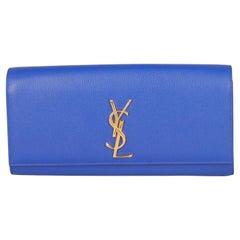Saint Laurent  Women Handbags Kate Monogram Navy Leather